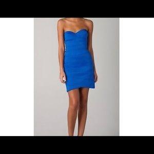 BB Dakota fitted strapless dress, blue